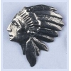 Pendant Native Head Silver